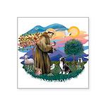 "St.Francis #2/ Amer Sta Square Sticker 3"" x 3"