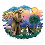 "St.Francis #2/ Amer Sta Square Car Magnet 3"""