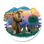 St.Francis #2/ Amer Sta Round Car Magnet