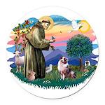 St.Francis #2/ Aus Shep (merl Round Car Magnet