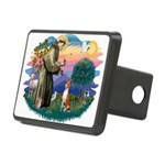 St Francis #2/ Basenji Rectangular Hitch Cover