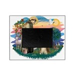 St.Francis #2/ Bearded Colli Picture Frame