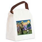 St. Francis & Beardie Canvas Lunch Bag