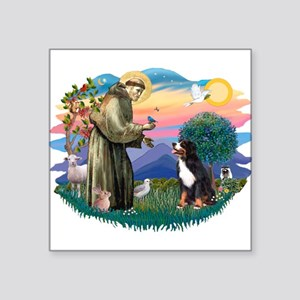 """St Francis #2/ BMD Square Sticker 3"""" x 3"""""""