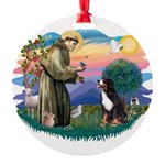 St Francis #2/ BMD Round Ornament