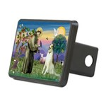 St Francis & Borzoi Rectangular Hitch Cover