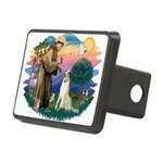 St Francis #2/ Borzoi Rectangular Hitch Cover