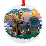 St Francis #2/ Bouvier Round Ornament