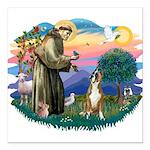 St.Francis #2/ Boxer (crop.) Square Car Magnet 3&q