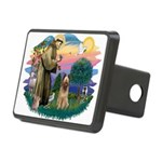 St Francis #2/ Briard (f) Rectangular Hitch Cover