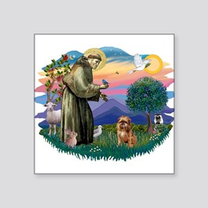 "St Francis #2/ Brussels G Square Sticker 3"" x 3"""