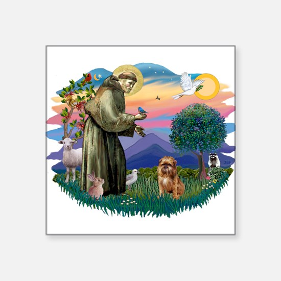 """St Francis #2/ Brussels G Square Sticker 3"""" x 3"""""""
