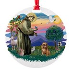 St Francis #2/ Brussels G Round Ornament