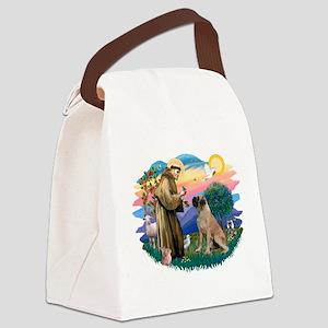 St.Francis #2/ Bull Mastiff Canvas Lunch Bag