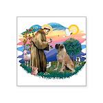 "St.Francis #2/ Bull Mastiff Square Sticker 3"""