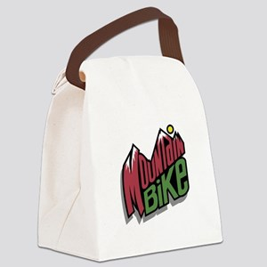 mountain bike graphic copy Canvas Lunch Bag