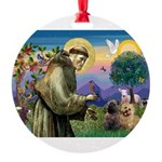 St. Francis Cairn Round Ornament