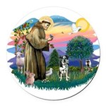 St.Francis #2/Catahoula Round Car Magnet