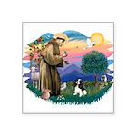 """St.Fran #2/ Cavalier (tri) Square Sticker 3"""""""