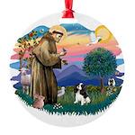 St.Fran #2/ Cavalier (tri) Round Ornament