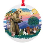 St Francis #2/ Cavaliers Round Ornament