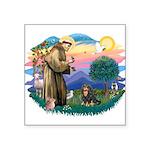 "St.Francis #2/Cavalier (BT) Square Sticker 3"""