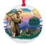 St.Francis #2/Cavalier (BT) Round Ornament