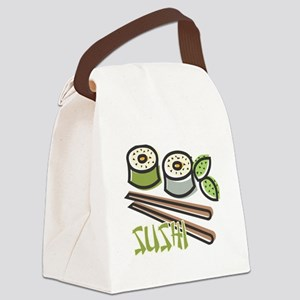 cool sushi design Canvas Lunch Bag