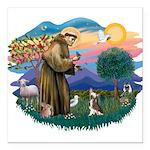 St.Francis #2/ C Crested #1 Square Car Magnet 3&qu