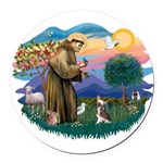 St.Francis #2/ C Crested #1 Round Car Magnet