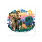 St.Francis #2/ Shar Pei (#3) Square Sticker 3&quot