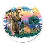 St.Francis #2/ Shar Pei (#3) Round Car Magnet