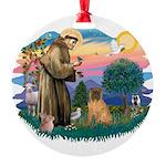 St.Francis #2/ Shar Pei (#3) Round Ornament