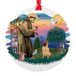 St.Francis #2/ Shar Pei (#2) Round Ornament