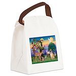 St Francis/Shar Pei #5 Canvas Lunch Bag
