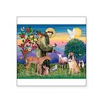 St Francis/Shar Pei #5 Square Sticker 3