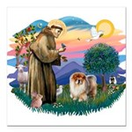 St Francis #2/ Chow (B) Square Car Magnet 3