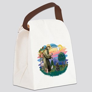 St.Fran #2/ Cocker (black) Canvas Lunch Bag