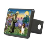 St Francis / Collie Rectangular Hitch Cover