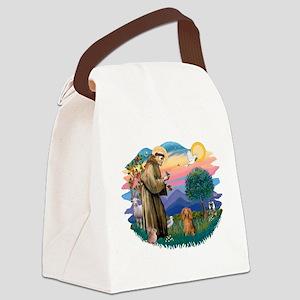 St.Fran #2/ Dachshund (LH-S) Canvas Lunch Bag