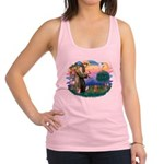 St.Fran #2/ Dachshund (red) Racerback Tank Top