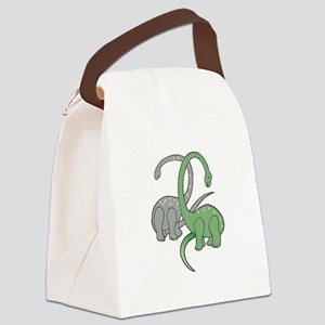two dinosaurs copy Canvas Lunch Bag