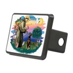 St Francis #2/ Doberman Rectangular Hitch Cover