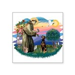 St Francis #2/ Doberman Square Sticker 3