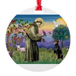 St. Francis Dobie Round Ornament
