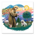 St.Francis #2/ Eng Bull (W #1 Square Car Magnet 3&