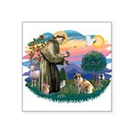 St.Francis #2/ E Bulldog #3 Square Sticker 3""