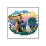 "St.Francis #2/ English Set. Square Sticker 3"""