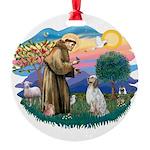 St.Francis #2/ English Set. Round Ornament