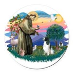 St Francis #2/ Eng Spring Round Car Magnet